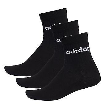 adidas Half Cushioned Crew Fitness Sport Socks Black (3 Pack)