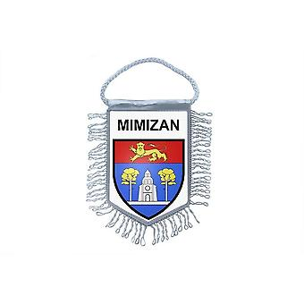 Fanion Mini Flag Country Car Decoration Souvenir Blason France Mimizan