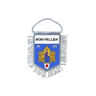 Flagge Mini Flagge Land Auto Dekoration Souvenir Blason Montpellier 34