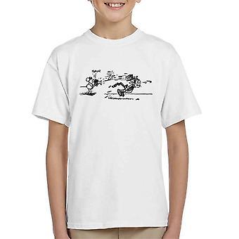 Krazy Kat Snap Throw Brick Kid's T-Shirt