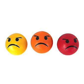 Bolas de stress emoticon conjunto de 3