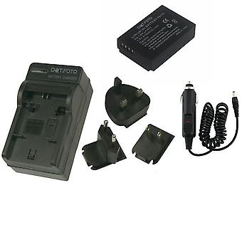 Dot.Foto LP-E12 875mAh Battery and Battery Travel Charger for Canon - 100-240v Mains - 12v in-car adapter [Veja descrição para compatibilidade]