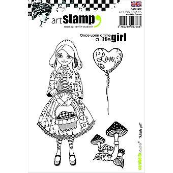 """ستوديو Carabelle """"فتاة صغيرة"""" يتمسكون بالطوابع، الأبيض/شفافة، A6"""