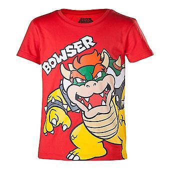 Super Mario Bros Bowser T-Shirt Kids Boy 134/140 Jahre 8 bis 10 Red