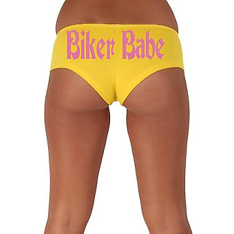 Women's Funny Booty Shorts Biker Babe Gothic Pink Bold Style Type