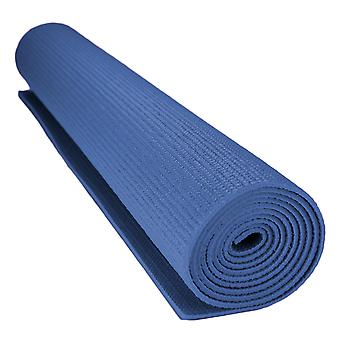 1/8-inch (3mm) Compact Yoga Mat with No-Slip Texture - Blue