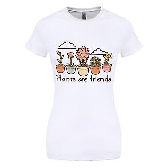Grindstore kvinner/damer planter er venner T-skjorte
