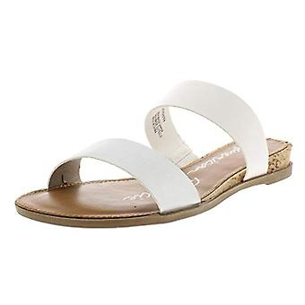 American Rag Womens Easten Faux Leather Slide Flat Sandals