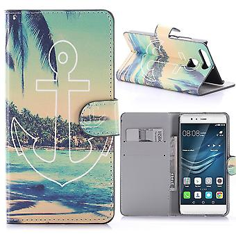 Huawei P9 Pattern Beach, Island And Palms With Anchor - Crazy Kase