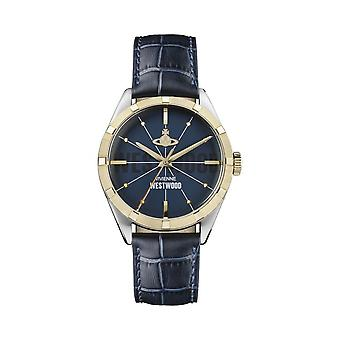 Vivienne Westwood Watches Vivienne Westwood Vv192nvnv Conduit Navy Blue & Gold Leather Watch