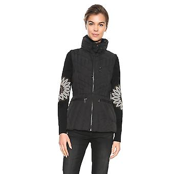 Desigual Women's Elysian Padded Gilet Coat Jacket With Removable Sleeves