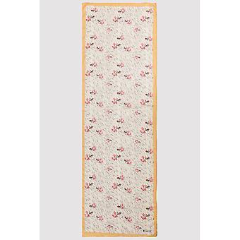 Premium crepe scarf in beige & pink print
