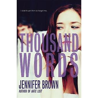 Thousand Words by Brown & Jennifer
