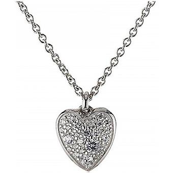 Fossil necklace and pendant JFS00154040 - STERLING SILVER Silver Crystals Transparent Women