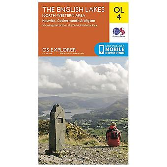 Ordnance Survey Orange Explorer 4 Lake District - North Western