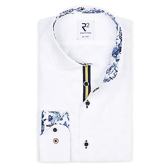 R2 Long Sleeved Wilde Collar Shirt White