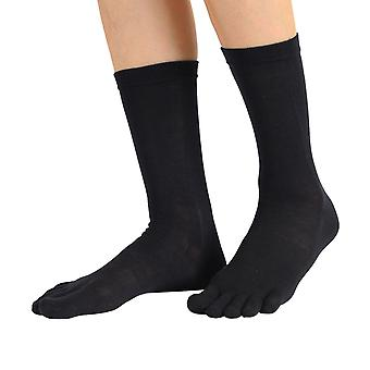 TOETOE Essential Everyday Unisex Mid-Calf Plain Silk Toe Socks