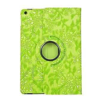 Apple iPad 10,2 2 2019 360 rotație flori-verde