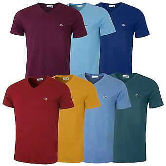 Lacoste Mens LS Girocollo Cotone T Shirt TH6712 T-Shirt a Manica Lunga
