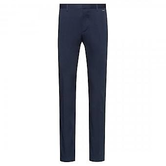 Hugo Boss Glen194 Navy Stretch Cotton Twill Trousers 50415212