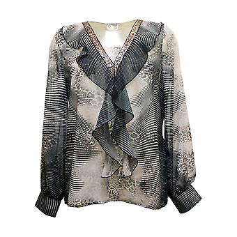 JUST WHITE Blouse 49898 92223 Black And Grey