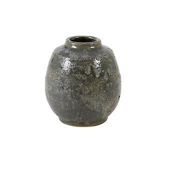 Ljus & Levande Vas Deco 16.5x17.5cm Sinabung Grön Brun