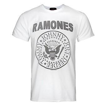 Amplified Ramones Logo Men's White T-Shirt