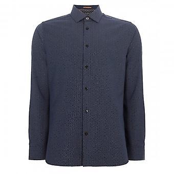 تيد بيكر Offme LS جيو طباعة قميص البحرية