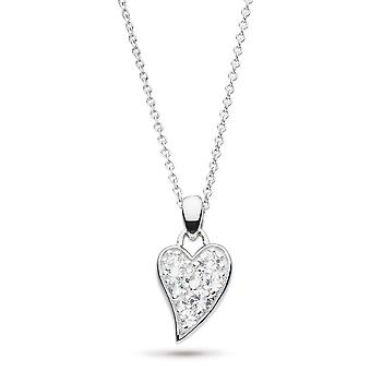 Kit Heath Desire Precious White Topaz Small Heart 17-quot; Necklace 90505WT