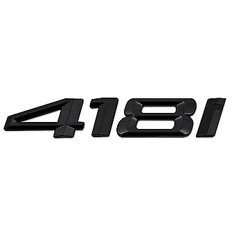 Gloss Black BMW 418i Car Model Rear Boot Number Letter Sticker Decal Badge Emblem For 4 Series F32 F33 F36 G22 G23 G26