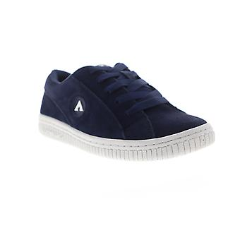 Airwalk Bloc  Womens Blue Suede Lace Up Athletic Skate Shoes