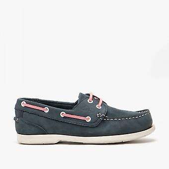 Catesby Shoemakers Pippa Ladies Leather Deck Shoes Navy