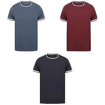 Front Row Mens Tag Free Tipped Tee