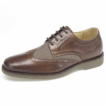 Anatomic&Co Tucano Mens Leather And Herringbone Brogues In Brown