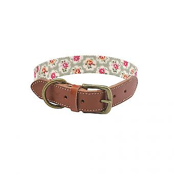 Cath Kidston Provence Rose Leather Dog Collar
