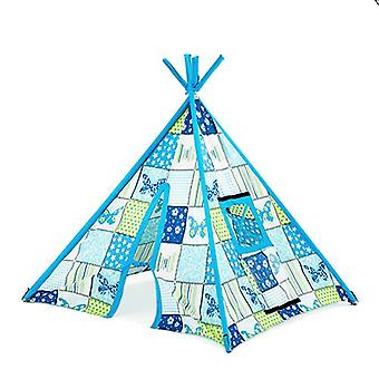 Klar Steady Bed Children's Butterfly Print Indoor Garden Playroom Play Telt Teepee Wigwam