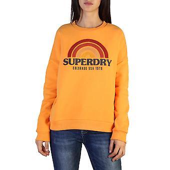 Superdry Original Frauen Herbst/Winter Sweatshirt - Orange Farbe 37768