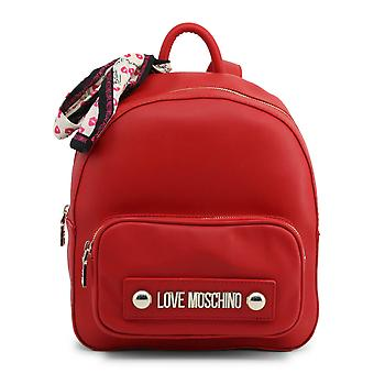 Love Moschino Original Women Fall/Winter Backpack/Rucksack - Red Color 37137