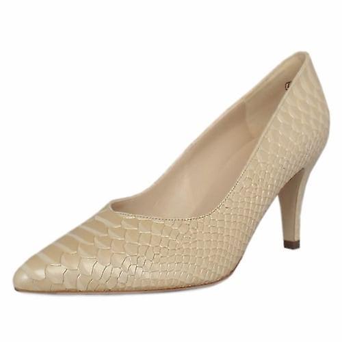 Peter Kaiser Elektra Dressy Pointy Toe Mid Heel Court Shoes In Sabbia Birman tR0s8