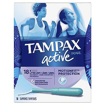 Tampax pearl active tampons, lites, unscented, 18 ea