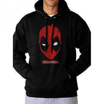 Deadpool Unisex Adults Logo Design Hooded Sweatshirt