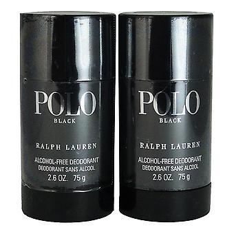 ラルフローレン2.6オンスアルコールフリー消臭スティック2によるポロブラック