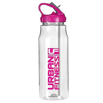 Urban Fitness Hydro Water Fitness Drink Bottle Clear/Pink 700ml