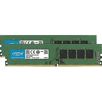 Crucial CT2K4G4DFS824A 8 GB Memory Kit (4 GB x 2), DDR4, 2400 MT/s, PC4-19200, Single Rank x 8, DIMM, 288-Pin