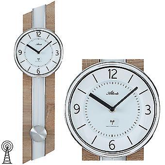 Атланта 5102/30 настенные часы радио радиоуправляемые настенные часы с маятник в Sonoma оптика маятниковые часы