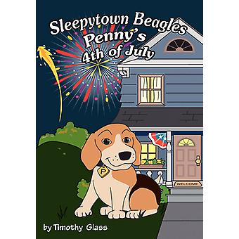 Sleepytown Beagles Pennys 4th of July by Glass & Timothy