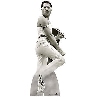 Freddie Mercury performing at Live Aid Lifesize Cardboard Cutout / Standee