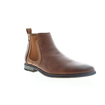 Robert Wayne Shayne  Mens Brown Leather Chelsea Boots Shoes