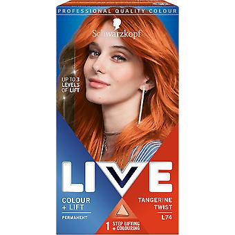 Schwarzkopf LIVE Color + Lift L74 Tangerine Twist Permanente Hair Dye x 3