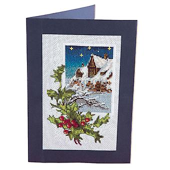 Panna Cross Stitch Card Kit : Winter Holly